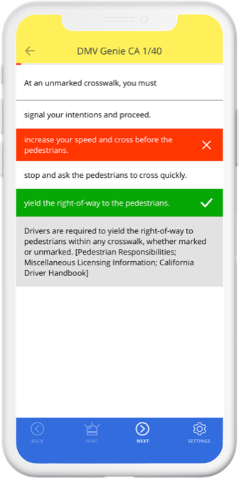 DMV Genie permit practice test app: breeze through your DMV test