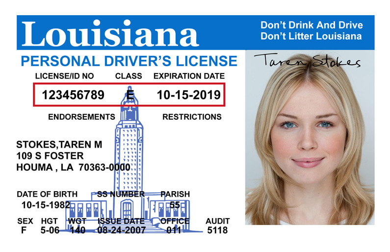 louisiana dmv drivers license cost