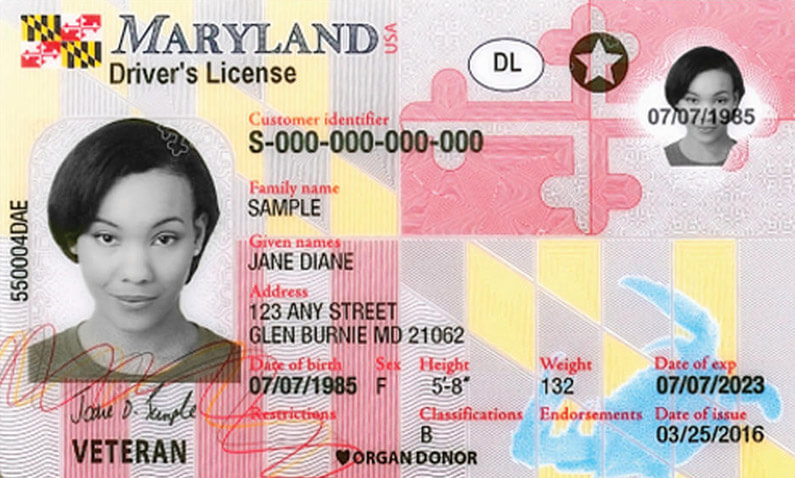 order new maryland drivers license