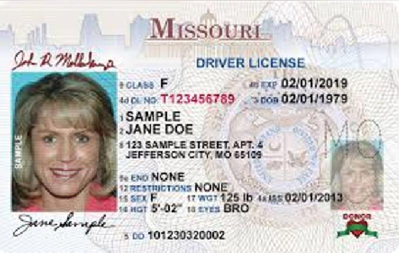 Missouri Driver's License Application and Renewal 2020