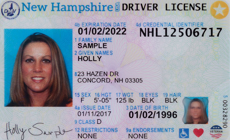 New Hampshire New Driver's License Application and Renewal 2019