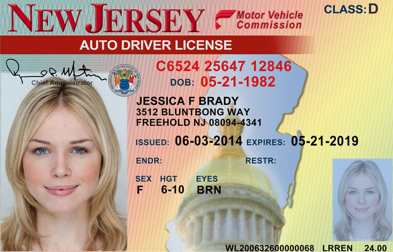 what documents do i need to renew my drivers license in new jersey