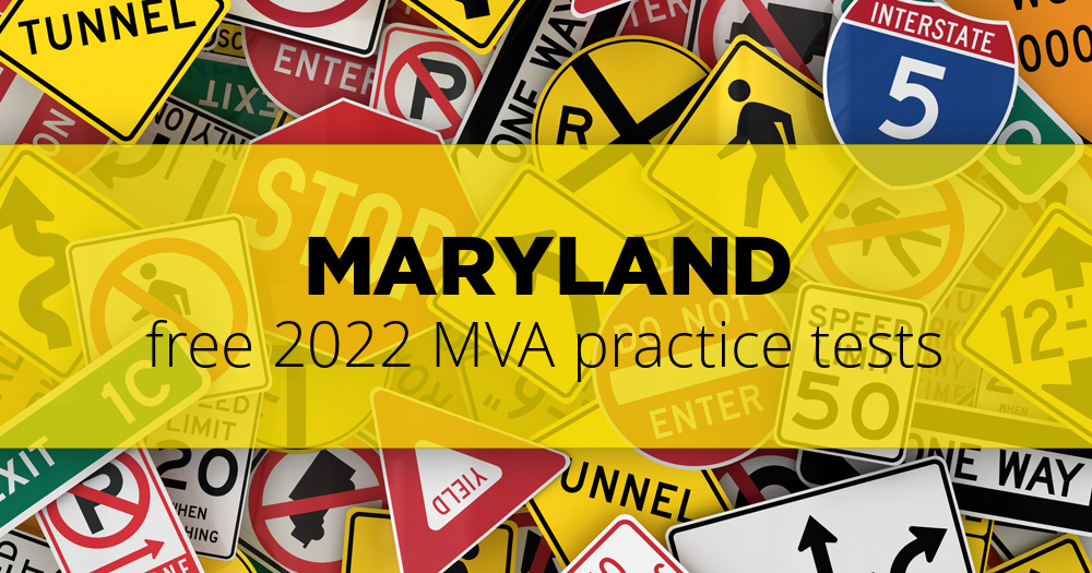 Free Maryland (MD) MVA Practice Tests – Updated for 2019